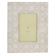 4 X 6 Wooden Photo Frame With White Pattern