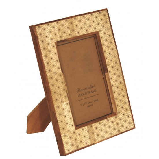5 X 7 Wood And Patterned Photo Frame