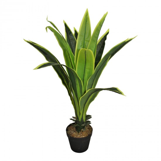 Artificial Dracaena Plant with 15 leaves, 80cm