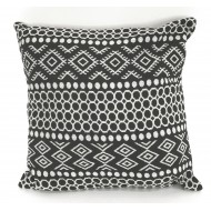 Aztec Design Cushion - Black
