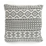 Aztec Design Cushion - Grey