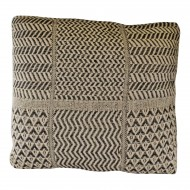 Aztec Patterned Cushion, Black & Natural 45cm