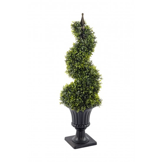 Boxwood Spiral Topiary with Pot 90cm