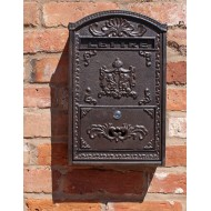 Cast Iron and Wooden Wall Mounted Post Box