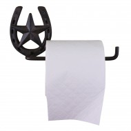 Cast Iron Rustic Toilet Roll Holder, Horseshoe