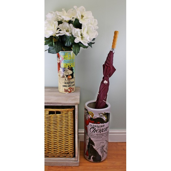 Umbrella Stand, Clinique Cheron Design With Free Vase