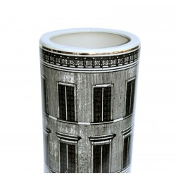 Ceramic Umbrella Stand, Monochrome Building Design