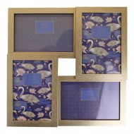Champagne Gold Wall Hanging Multi Photo Frame, Space For 4 Photos