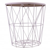 Circular Geometric Side Table White & Marble Effect