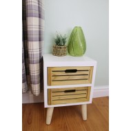 Compact 2 Drawer Unit with Removable Legs