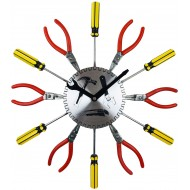 DIY Metal Tool Wall Clock 39cm