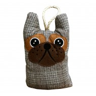 Dog Head Doorstop - Tweed Pattern