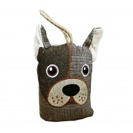 Dog Head Dorrstop - Half Tweed