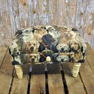 Dogs Footstool with Drawer