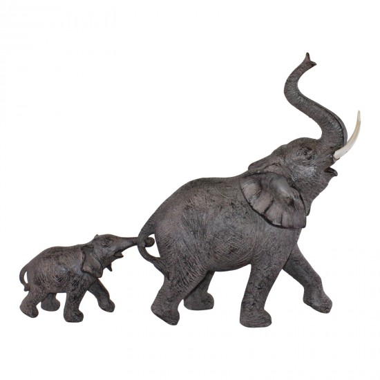 Elephant With Baby Ornament