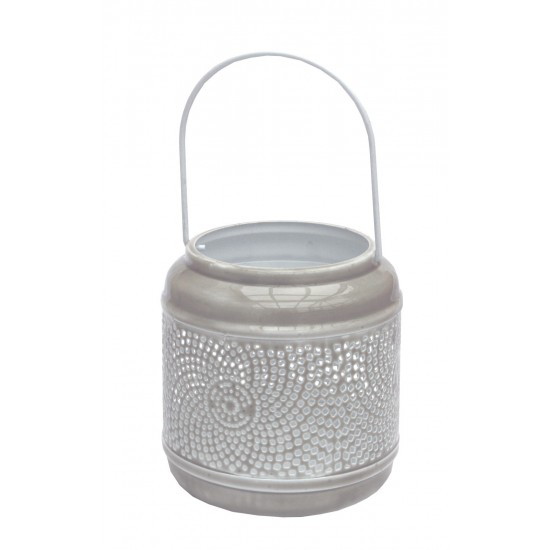Extra Small Distressed Taupe Lantern