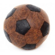 Faux Leather Foot Ball Doorstop 20cm