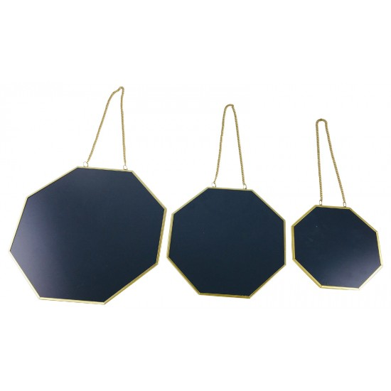 Set of 3 Hanging Geometric Mirrors