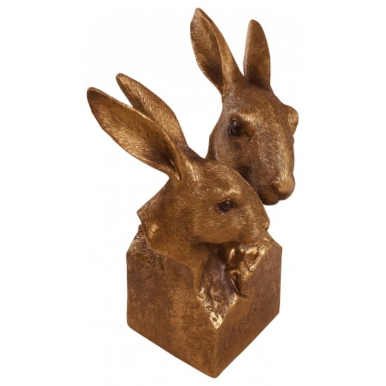 Reflections Bronzed Hare Bust 25cm
