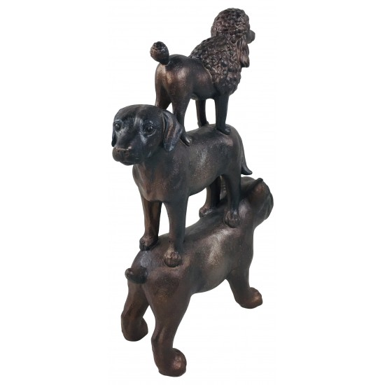 Stack Of 3 Dogs 43cm