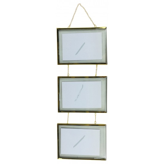 Triple Hanging Metal Frame 59cm