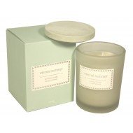 Glass Candle W/Lid In Teal Gift Box - Eternal Summer