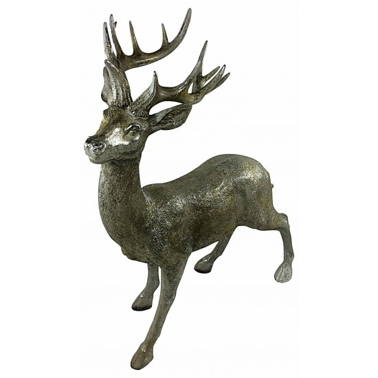 Gold Sparkle Standing Stag 73cm