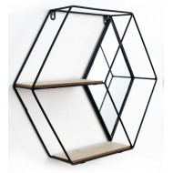 Hexagon Unit With Mirror & 2 Shelves