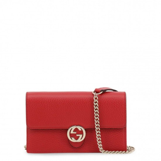 Gucci Cross Body Leather Bag with Chain Strap