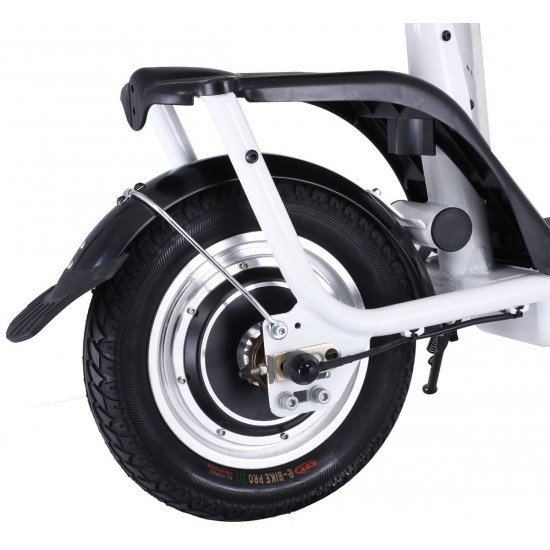 S7 ELECTRIC SCOOTER WITH SEAT AND BIGGER 10AH BATTERY - WHITE