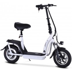 ZIPPER S7 ELECTRIC SCOOTER WITH SEAT AND BIGGER 10AH BATTERY - WHITE