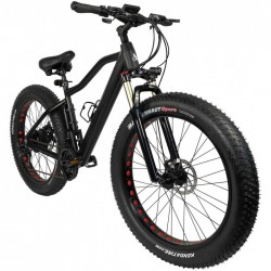 "ZIPPER STEALTH ELECTRIC FAT BIKE 26"" MTB 10AH - MATT BLACK"