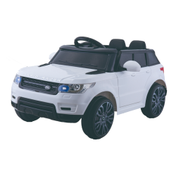 Battery Powered - 12V White Range Rover Style Ride On Car
