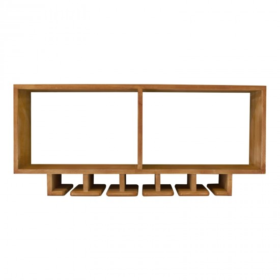 Kitchen Shelving Unit With Storage For Wine Glasses
