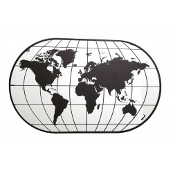 Large World Map Mirror, 100cm