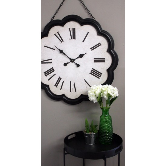 Large Clock with Hanging Chain