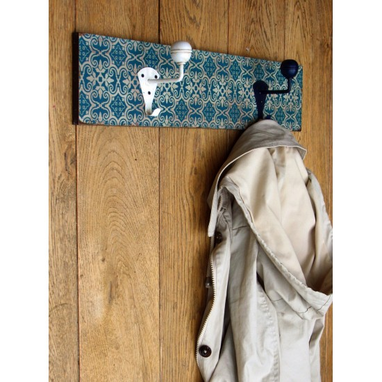 Wall Hanging Blue and White Hooks