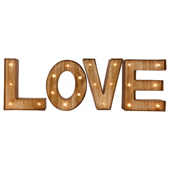 Love Word Letters with LED Lights