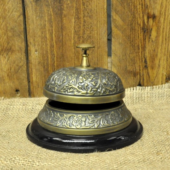Antique Embossed Desk Bell