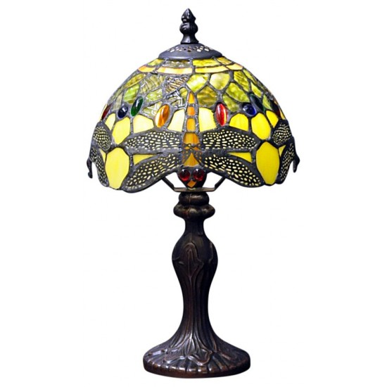 Green Dragonfly Tiffany Lamp