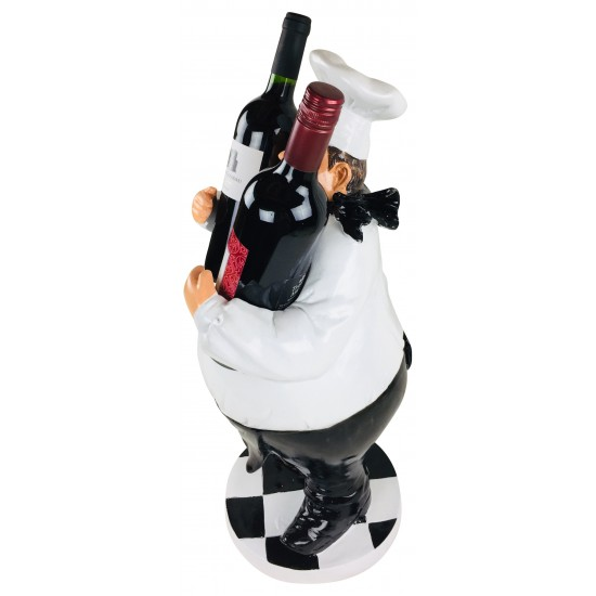 Resin Chef Double Wine Holder 60cm