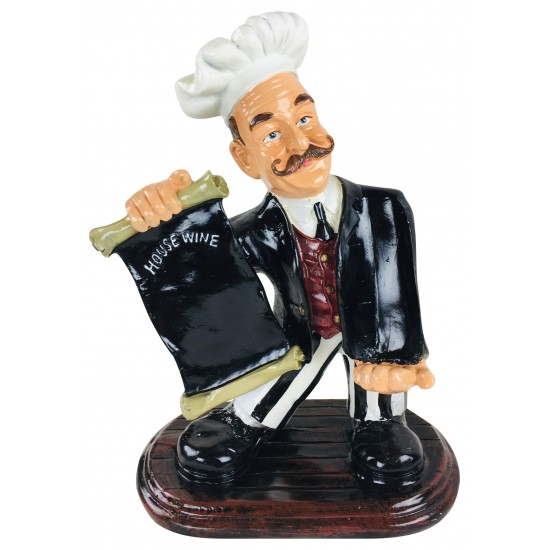 Resin Chef Wine Holder 45x33x20cm