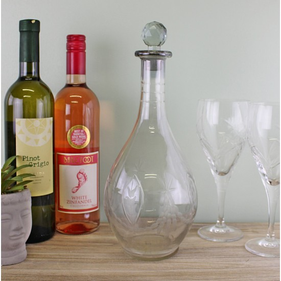 Clear Glass Round Decanter