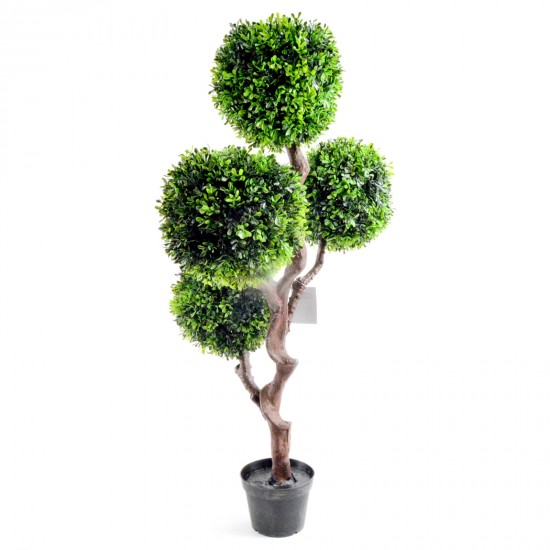Artificial Large 90cm UV Boxwood Topiay Tree