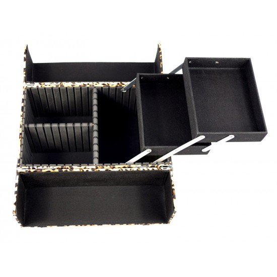 Vanity Case / Makeup Box Leopard Print