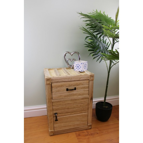 Bedside or Occasional Cabinet in Untreated Wood