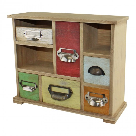 Multi Coloured Wooden Trinket Drawers