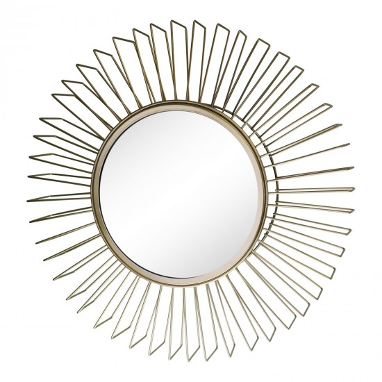 Gold Wire 3D Accent Mirror