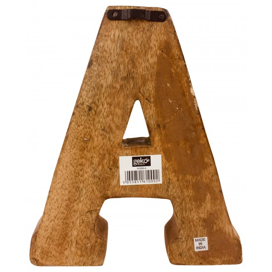 Hand Carved Wooden Geometric Letters Bar