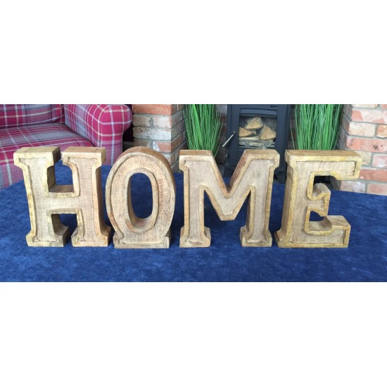 Hand Carved Wooden Embossed Letters Home